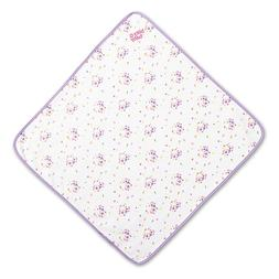 American Girl Bitty Baby White Floral Blanket New