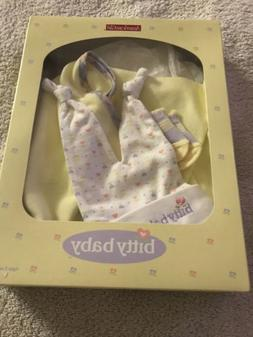 American Girl Bitty Baby yellow blanket layette set NIB RETI