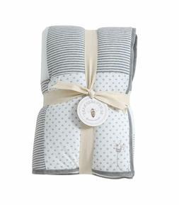 Burt's Bees Baby - Reversible Quilt Baby Blanket, Dottie Bee