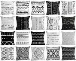 Black & White Premium Throw PILLOW COVER Sofa Couch African