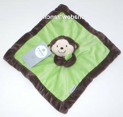 Carter's Black/Green Monkey Security Blanket with Plush