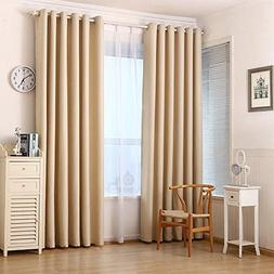 Blackout Darkening Thermal Insulated Drapes Curtains Panels,
