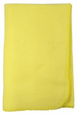 Bambini Blank Yellow Polarfleece Blanket
