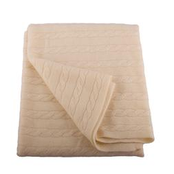Lucky Bird Cashmere Baby Blanket, Cream