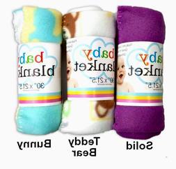 Blanket Baby Fleece Infant Animal Print Soft Starter Teddy B