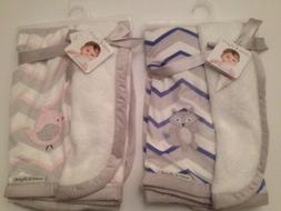 Blankets And & Beyond Baby Boy Girl Pink Blue Grey Chevron R