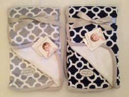 Blankets And & Beyond Baby Boy Girl Grey Navy Blue White Geo