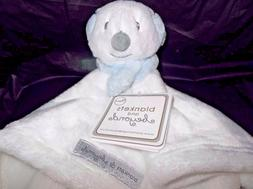 BLANKETS AND & BEYOND BABY NUNU/SECURITY BLANKET-WHITE W/ BL