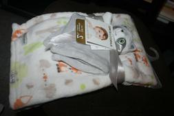 Blankets & Beyond Baby Blanket 2 pc set w/ nunu lovey raccoo