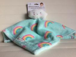 Blankets And Beyond Baby New Aqua/White Rainbow Cloud Securi