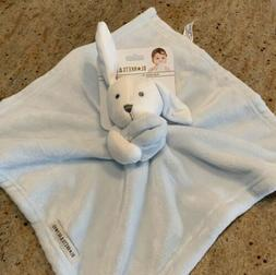 Blankets And Beyond Bunny New Plush Security Blanket Blue/Wh