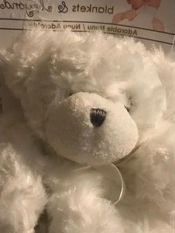Blankets & Beyond Baby White Bear Lovey Security Blanket Plu