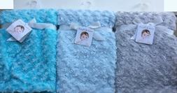 "Blankets & Beyond Swirl Baby Blanket Throw 28"" x 32"" 100% Po"