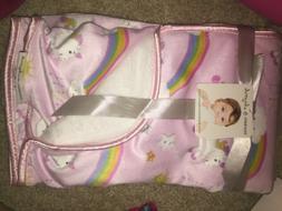 blankets and beyond unicorns reversible baby blanket