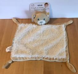 Blankets Beyond Tan White Kitty Cat Baby Blanket Security Lo