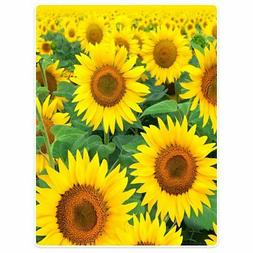 Blankets Fleece Blanket Throw for Sofa Bed Yellow Sunflowers