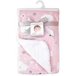 """Blankets """" Toddler Beyond Clouds And Stars Pink Baby"""