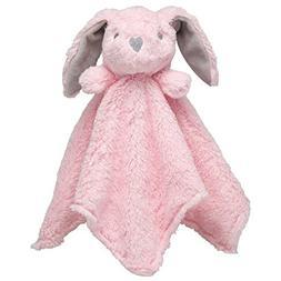 "Elegant Baby Blankie Bunny, Pink, 15""x15"""