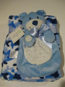 Baby Gear Blue and White Baby Blanket and Puppy Security Bla