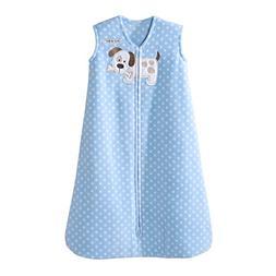 Halo Blue Dot Puppy Sleepsack Wearable Baby Blanket, Micro-F
