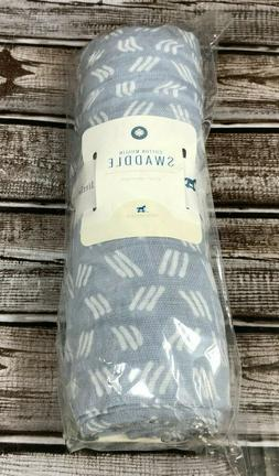 blue grass cotton baby muslin swaddle blanket