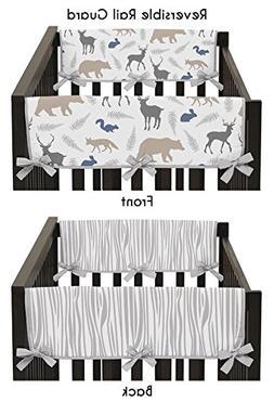 Sweet Jojo Designs Blue Gray and White Woodland Animals Teet