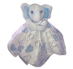 Blankets & Beyond Blue & Grey Elephant Security Blanket