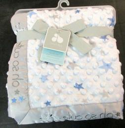 Just Born Embroidery Popcorn Velboa Baby Blanket: Little Exp