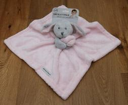 Blankets and Beyond Blue & White Bunny Baby Security Blanket
