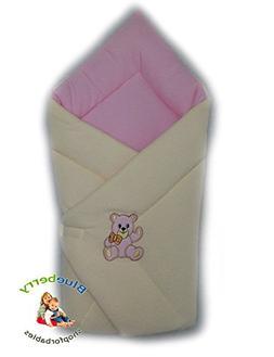 BlueberryShop Cosy Fleece for CAR SEAT Swaddle Wrap Blanket