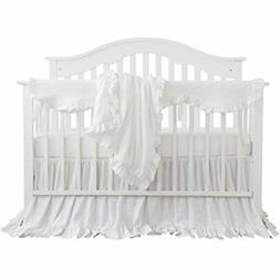 Blush Coral Pink Ruffle Crib Bedding Set Baby Girl Blanket N