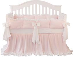 Blush Coral Pink Ruffle Crib Bedding Set Baby Girl Bedding B