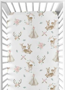 Sweet Jojo Designs Blush Pink, Mint Green and White Boho Bab