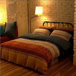 LELVA Bohemian Style Bedding Set, Boho Style Bedding Set, Bo