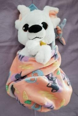 """Disney Parks Bolt Baby Plush with Blanket Pouch 10"""" Babies N"""