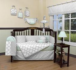 GEENNY Boutique Baby 13 Piece Crib Bedding Set, Soft Mint Gr