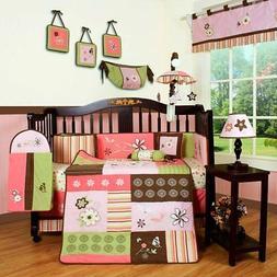 Baby Boutique Floral Dream Girl 13PCS Nursery CRIB BEDDING S