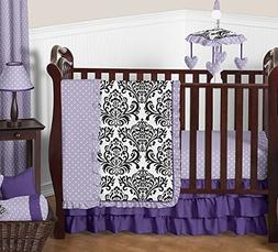Sweet Jojo Designs Boutique Sloane Lavender Purple White Pol