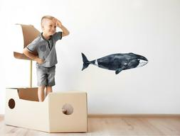 Bowhead Whale Wall Decal Watercolor Wall Sticker Arctic Sea