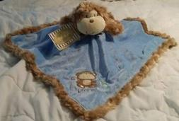 Baby Starters Boy Blue Security Blanket Lovey Little Monkey
