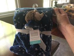 Hudson Baby Boy Hedgehog/porcupine Security Blanket Set Laye