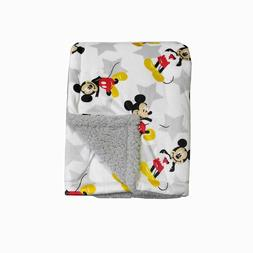 Disney Baby Boy Mickey Mouse MNK/Sherpa Blanket with Super S
