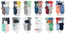 Boys Carter's 5 Pack Bodysuits Newborn 3 6 9 or 12 Months Sl