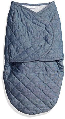 Sterling Baby by Vitamins Baby Boys' Chambray Quilted Swaddl