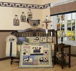 Boys Crib Bedding Construction Truck Tool 13 Pc Set Baby Tod