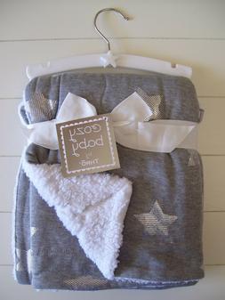 Boys Girls Cozy Baby by THRO Gray Foil Star Jersey Fleece Ba