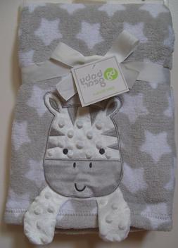 Boys Girls Baby Gear Gray White Zebra Star Crinkle Feet Soft