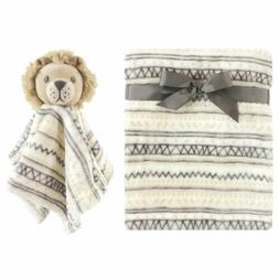 Boys or Girls Hudson Baby 2 Pc Lion Security Nunu Lovey and