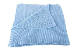 Boys Super Soft 100% Cashmere Baby Blanket - 'Baby Blue' - h