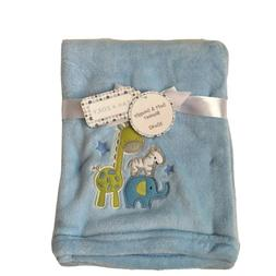Zak & Zoey Boys Zoo Animal Plush Baby Blanket Lightweight Bl
